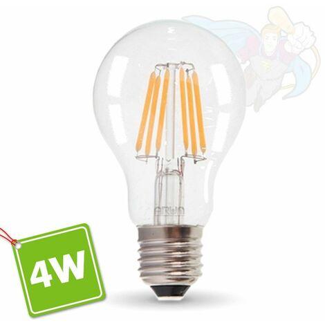 Bombilla LED E27 4W Filament Equiv 40W Blister | Temperatura de color: Blanco cálido 2700K