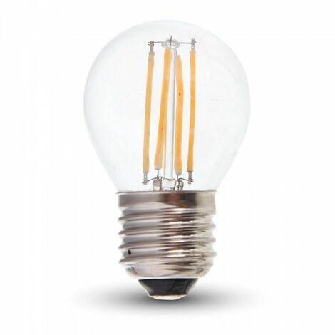 Bombilla LED E27 4W G45 (Pelota de golf) Eq 40W | Temperatura de color: Blanco cálido 2700K