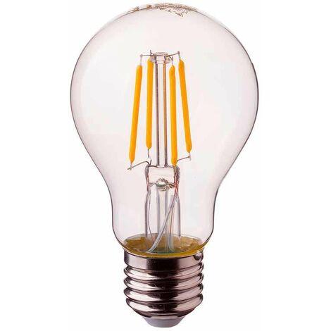 Bombilla LED E27 regulable filamento A60 2700K 4W