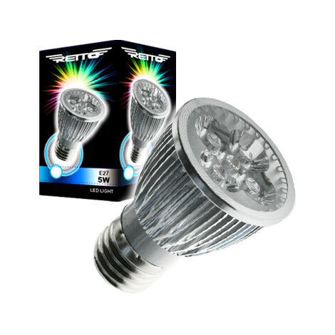Bombilla led e27 5w dicroica retto luz calida 220v 480lumens luz color 4000k