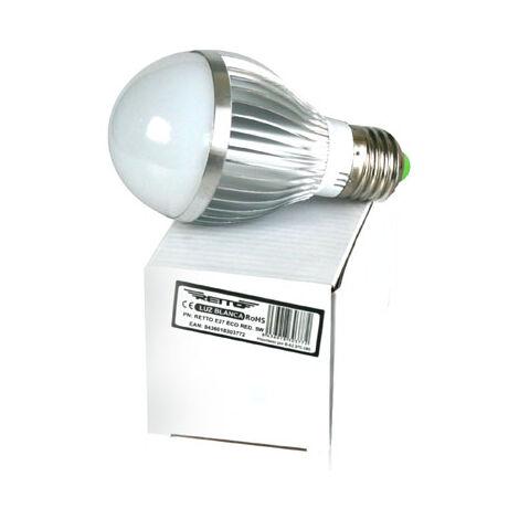 Bombilla led e27 5w redonda retto luz fria 220v 500 lumens luz color 400k new led