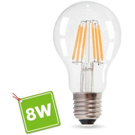 Bombilla LED E27 8W 1055 Lúmenes Eq 75W Blanco cálido