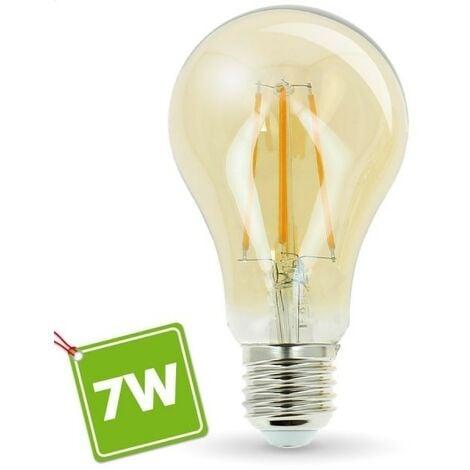 Bombilla LED E27 7W Amber Eq 55W