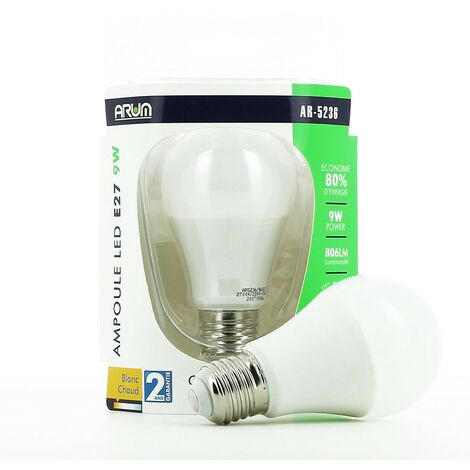 Bombilla LED E27 9W ARUM LIGHTING