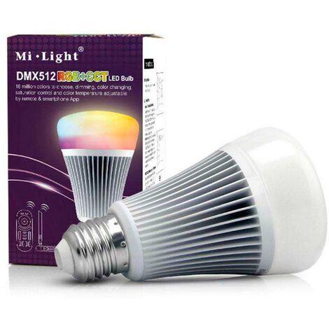 Bombilla led E27, 9W, DMX512, RGB+CCT, RGB + Blanco dual - RGB + Blanco dual
