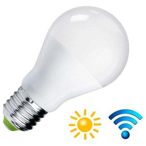 Bombilla LED E27, 9W, Sensor movimiento y luminosidad