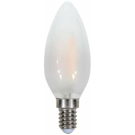 Bombilla led e14 filamento candle Frost Cover 4W 300° Temperatura de color - 2700K Blanco cálido