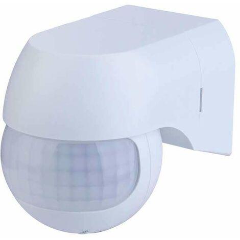 Detector de movimiento PIR de pared 180°. Carga máxima 400W  blanco