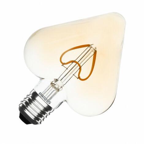 Bombilla LED E27 Casquillo Gordo Filamento Gold Classic Heart G127 2.3W Blanco Cálido 2000K . - Blanc Chaud 2000K