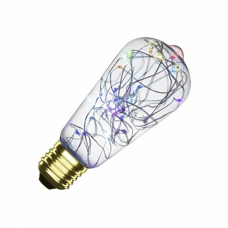 Bombilla LED E27 Casquillo Gordo Filamento Luces Lemon RGB ST58 1W RGB