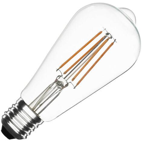 Bombilla LED E27 Casquillo Gordo Filamento ST64 6W Blanco Cálido 2000K - 2500K