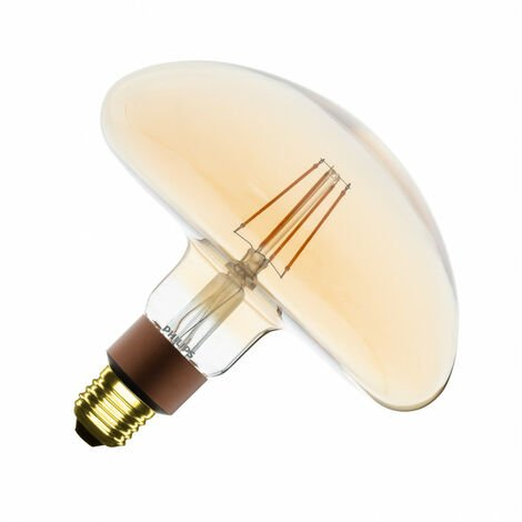 Bombilla LED E27 Casquillo Gordo G202 Regulable Filamento Gold LEDClassic Mushroom 5W Blanco Cálido 2000K