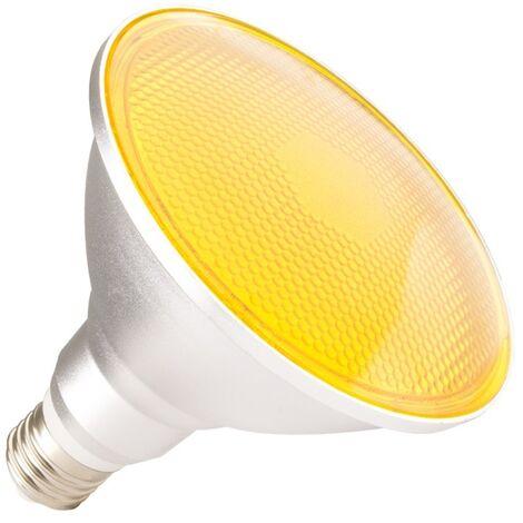 Bombilla LED E27 Casquillo Gordo PAR38 15W Waterproof IP65 Luz Amarilla Amarillo. - Jaune