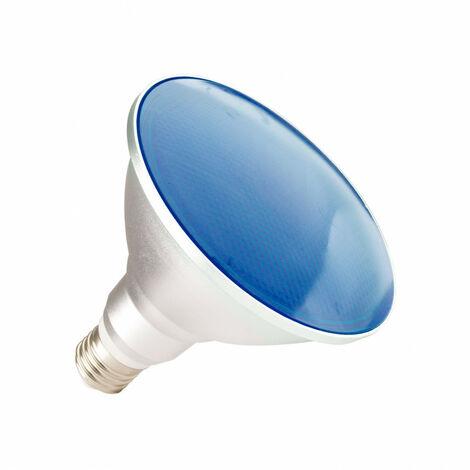 Bombilla LED E27 Casquillo Gordo PAR38 15W Waterproof IP65 Luz Azul Azul