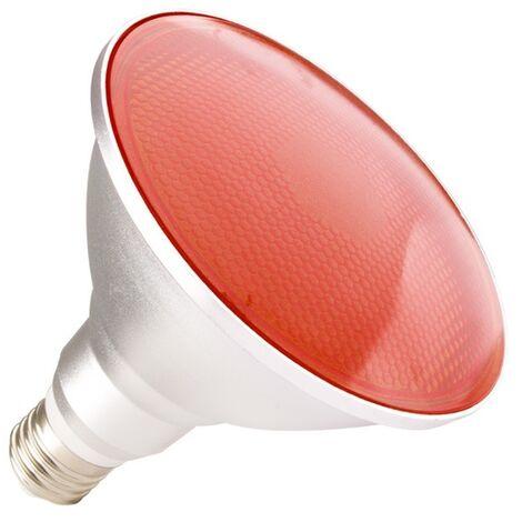Bombilla LED E27 Casquillo Gordo PAR38 15W Waterproof IP65 Luz Roja Rojo