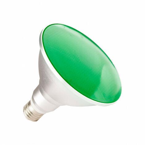 Bombilla LED E27 Casquillo Gordo PAR38 15W Waterproof IP65 Luz Verde Verde