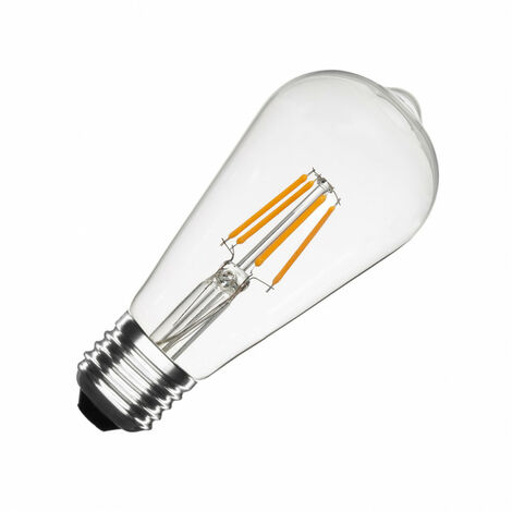 Bombilla LED E27 Casquillo Gordo Regulable Filamento Big Lemon ST64 5.5W Blanco Cálido 2000K - 2500K