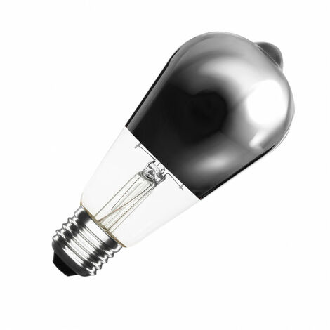 Bombilla LED E27 Casquillo Gordo Regulable Filamento Chrome Reflect Big Lemon ST64 7.5W Blanco Cálido 2000K - 2500K