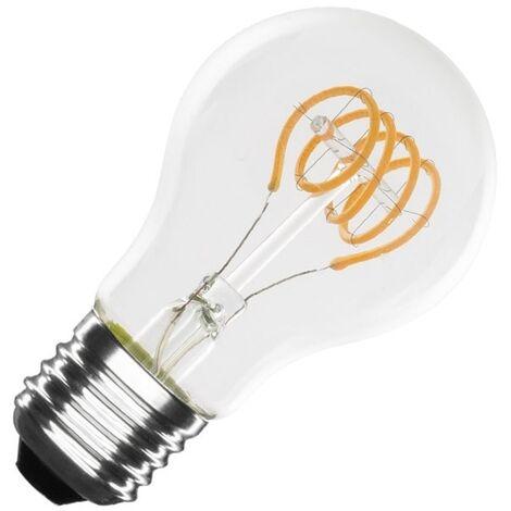Bombilla LED E27 Casquillo Gordo Regulable Filamento Espiral Classic A60 4W Blanco Cálido 2000K - 2500K