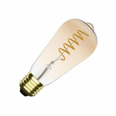 Bombilla LED E27 Casquillo Gordo Regulable Filamento Espiral Gold Big Lemon ST64 4W Blanco Cálido 2000K - 2500K