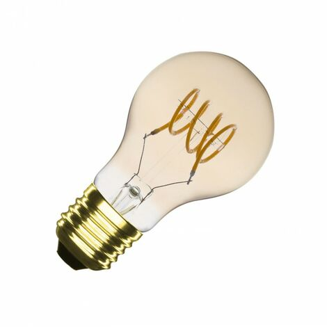Bombilla LED E27 Casquillo Gordo Regulable Filamento Espiral Gold Classic A60 4W Blanco Cálido 2000K - 2500K - Blanco Cálido 2000K - 2500K