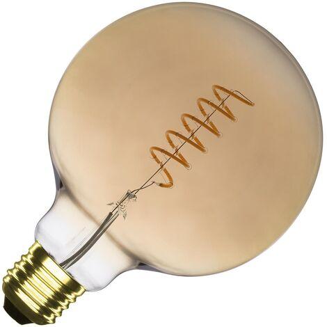 Bombilla LED E27 Casquillo Gordo Regulable Filamento Espiral Gold Supreme G125 4W Blanco Cálido 2000K - 2500K