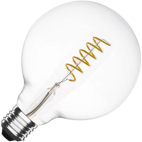 Bombilla LED E27 Casquillo Gordo Regulable Filamento Espiral Supreme G125 4W Blanco Cálido 2000K - 2500K