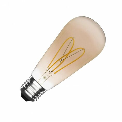 Bombilla LED E27 Casquillo Gordo Regulable Filamento Gold Big Lemon ST64 4W Blanco Cálido 2000K - 2500K