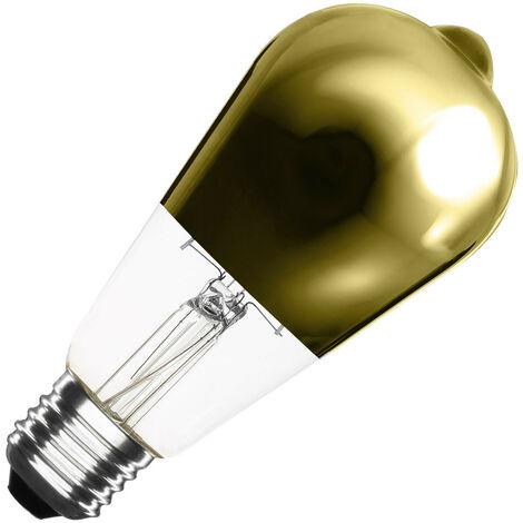 Bombilla LED E27 Casquillo Gordo Regulable Filamento Gold Reflect Big Lemon ST64 7.5W Blanco Cálido 2000K - 2500K