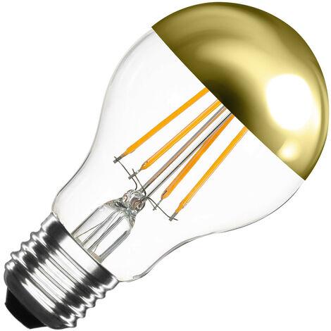 Bombilla LED E27 Casquillo Gordo Regulable Filamento Gold Reflect Classic A60 6W Blanco Cálido 2000K - 2500K