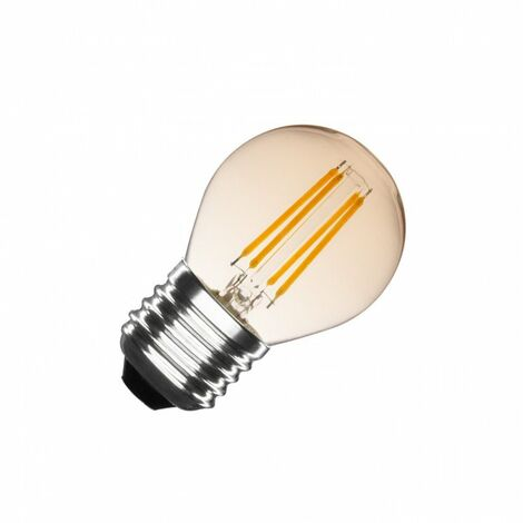 Bombilla LED E27 Casquillo Gordo Regulable Filamento Gold Small Classic G45 4W Blanco Cálido 2000K - 2500K