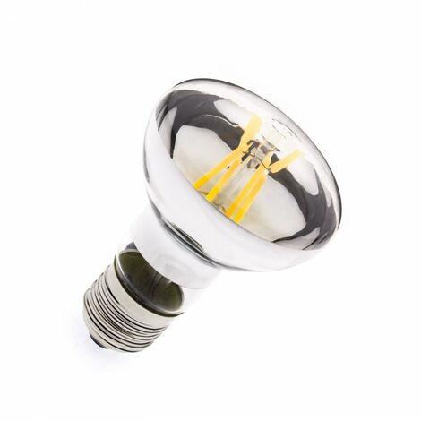Bombilla LED E27 Casquillo Gordo Regulable Filamento R63 6W