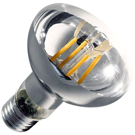 Bombilla LED E27 Casquillo Gordo Regulable Filamento R80 6W Clear Blanco Cálido 2000K - 2500K