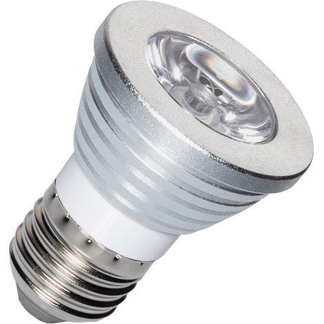 Bombilla LED E27 Casquillo Gordo RGB 3W