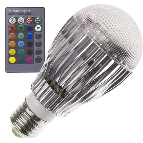 Bombilla LED E27 Casquillo Gordo RGB 5W