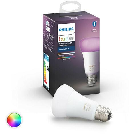 Bombilla LED E27 Casquillo Gordo RGBW Hue White Color 9W RGB