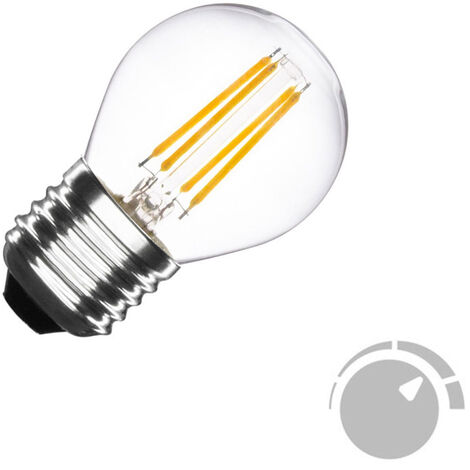 Bombilla Led E27 COB filamento 4W, Small Regulable