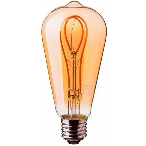 Bombilla LED E27 Curve Filamento ST64 2200K 5W