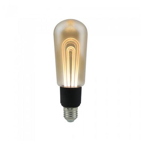 Bombilla LED E27 Filamento Amber Cover T60 2200K 5W