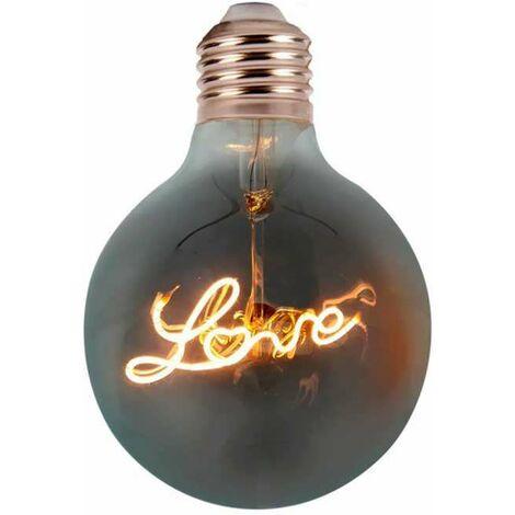 Bombilla LED E27 Filamento Amber vintage Love Glass G125 2200K 5W