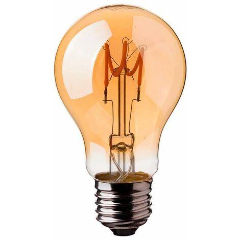 Bombilla LED E27 Filamento Curve A60 2200K 3W