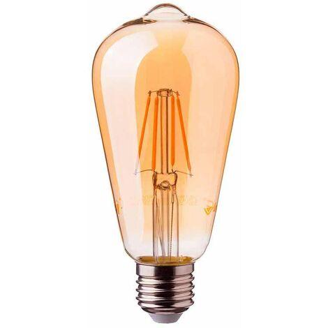 Bombilla LED E27 filamento Edison Gold Cover 2200K 6W