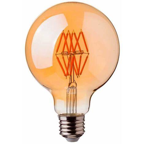Bombilla LED E27 filamento globo 16 Gold Cover G95 2200K 8W