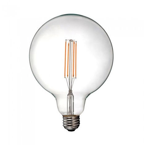 Bombilla LED E27 filamento globo Clear Glass G125 12.5W
