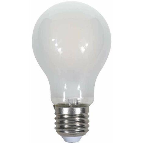 Bombilla LED E27 Filamento Globo Frost Cover A60 4W