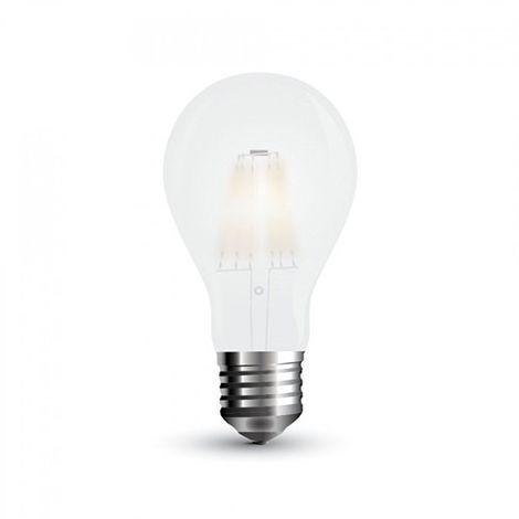 Bombilla LED E27 Filamento Globo Frost Cover A60 7W