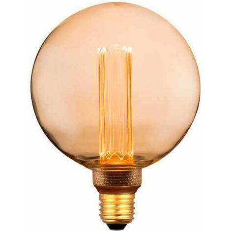 Bombilla LED E27 Filamento Globo G125 Amber Cover 1800K 4W