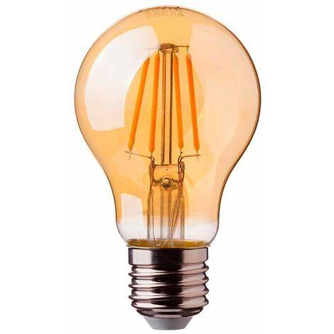 Bombilla LED E27 filamento globo Gold Cover A67 2200K 8W