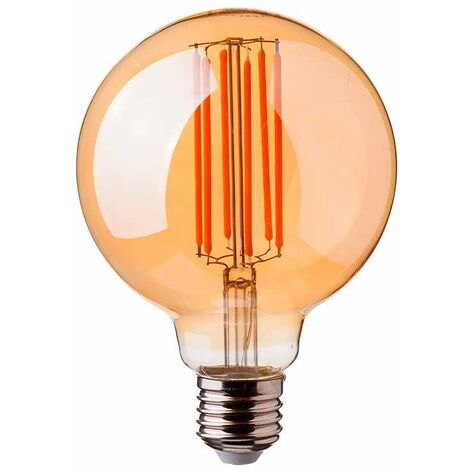 Bombilla LED E27 filamento globo LONG Gold Cover G95 2200K 7W