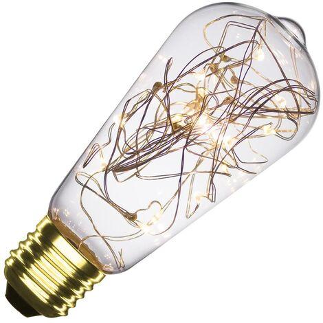 Bombilla LED E27 Casquillo Gordo Filamento Luces Lemon ST58 1W Blanco Cálido 2000K - 2500K